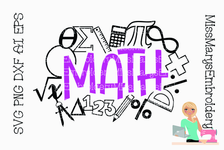 Math Title with Symbols | Math SVG | School SVG |