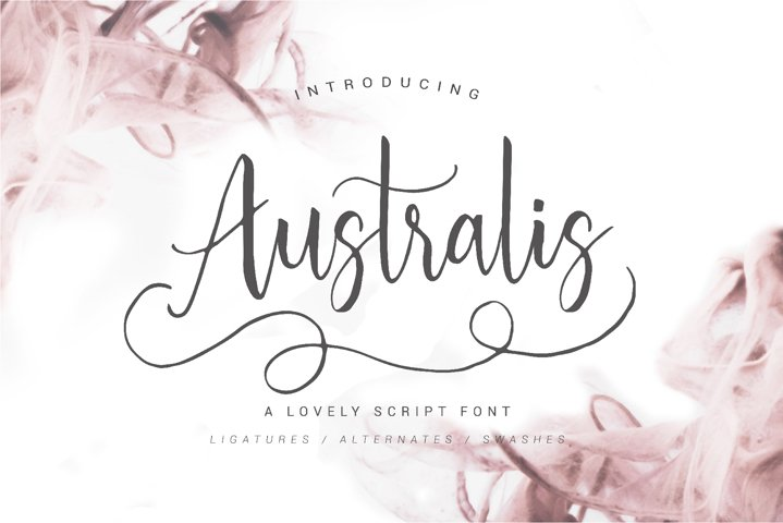 Australis - handwritten font