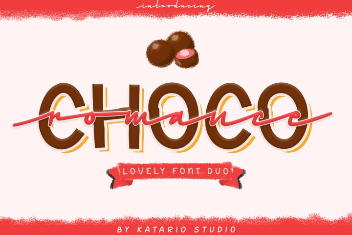 Choco Romance | Lovely Font Duo