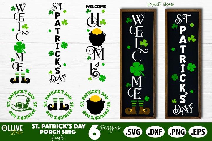 St. Patricks Day Porch Sign SVG Bundle