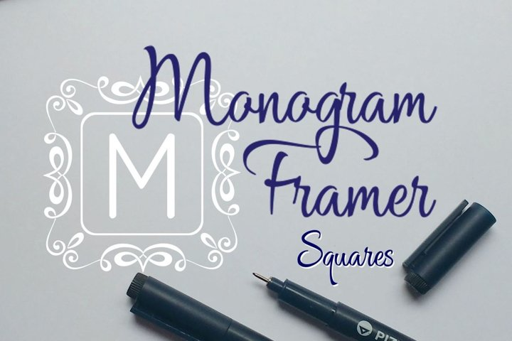 Square Monogram Framer