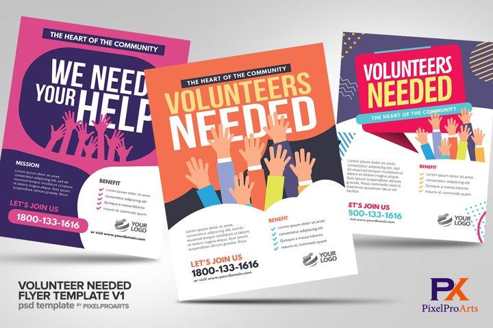 Volunteer Needed Flyer Template V1