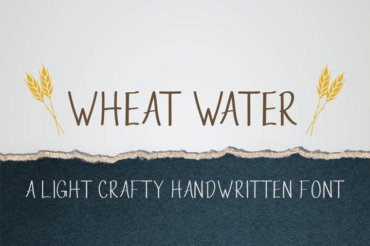 Wheat Water - A Crafty Thin Handwritten Font