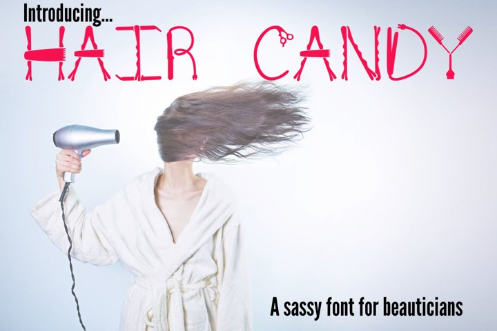 Hair Candy - A Sassy Font for Beauticians