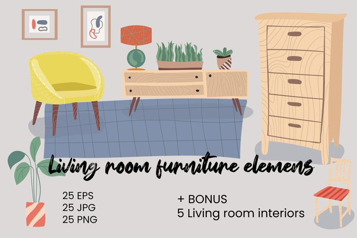Living room furniture elements