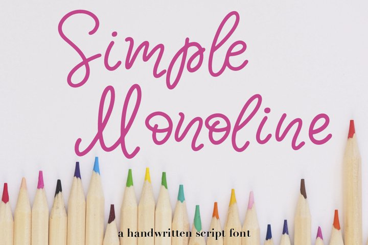 Simple Monoline A Handwritten Font