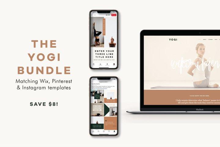 The Yogi Bundle | Wix Website | Social Media Tempaltes