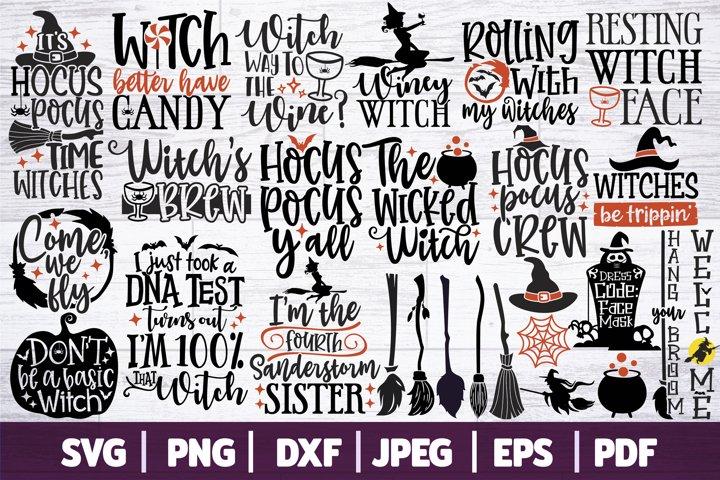 Halloween SVG Bundle, Witch SVG Bundle - 27 Themed SVGs