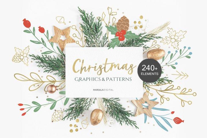 Christmas Illustration Graphics & Seamless Patterns