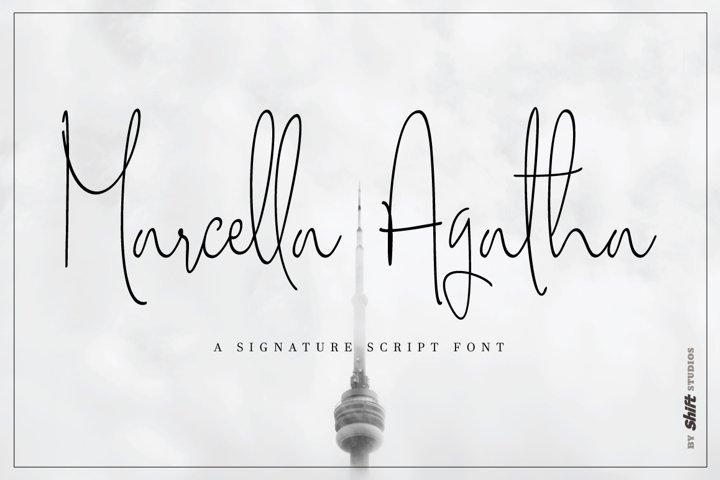 Marcella Agatha Typeface