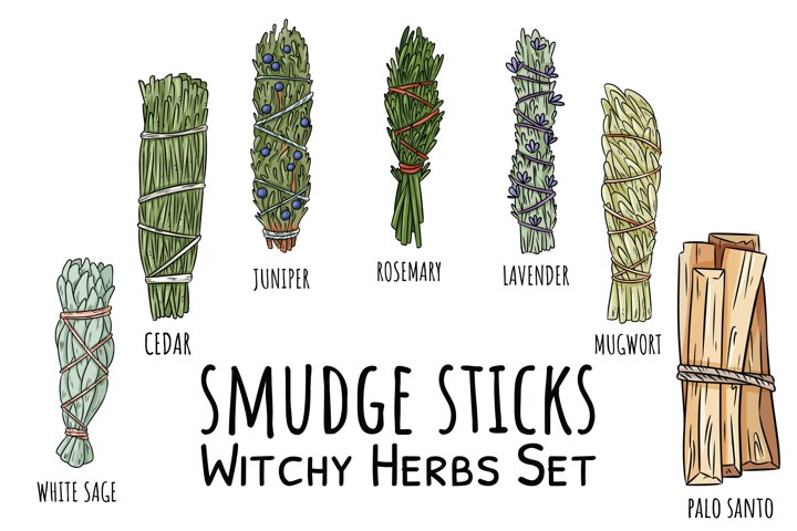 Smudge Sticks Witchy Herbs Set