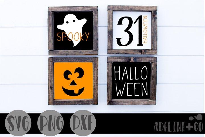 Halloween mini sign bundle, SVG, PNG, DXF
