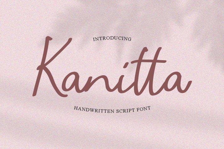 Kanitta - Handwriting Script