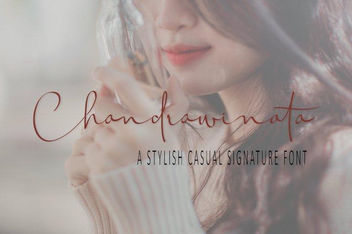 Chandrawinata Signature script Font