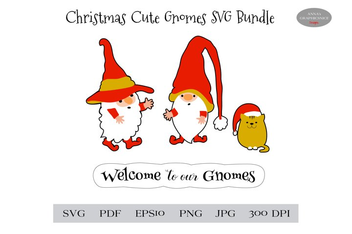 Christmas Gnome SVG Stickers Bundle. Welcome to our Gnomes