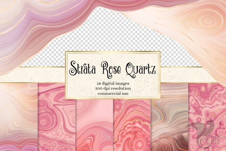 Strata Rose Quartz Agate Textures