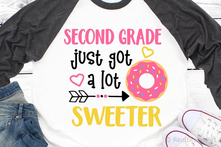 Second Grade Just Got a Lot Sweeter SVG, DXF, PNG, EPS