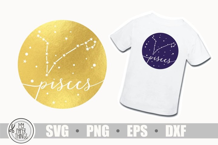 Pisces constellation svg, Horoscope svg, Birthday svg