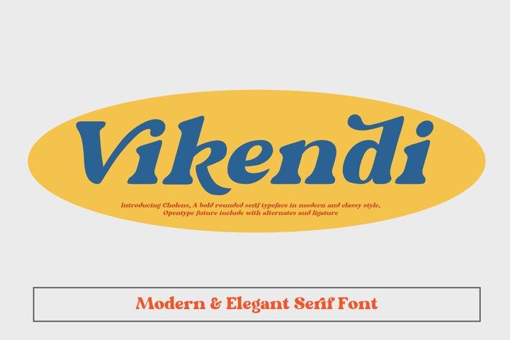 Vikendi Elegant Serif Font