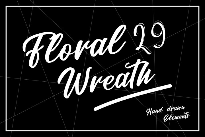 29 Floral Wreath | Hand drawn