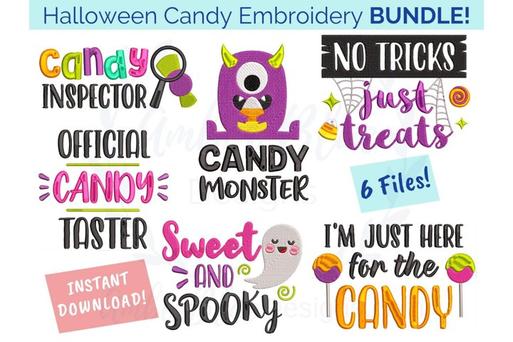 Halloween Candy Embroidery File Bundle