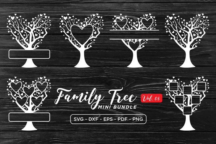 Family Tree SVG Bundle Vol 8, Family Tree SVG DXF EPS PNG