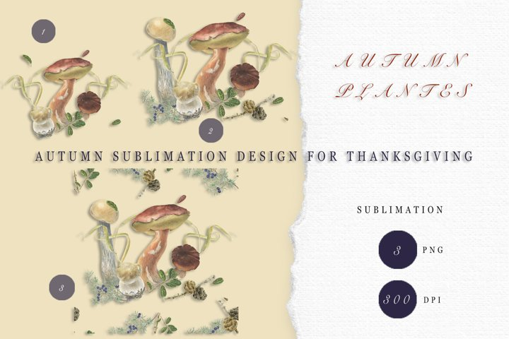 Autumn Sublimations Design for Thanksgiving.