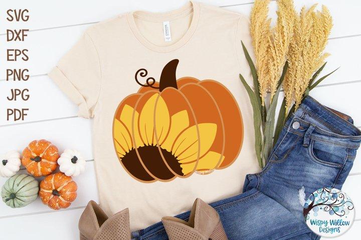 Sunflower Pumpkin SVG | Fall Pumpkin SVG Cut File