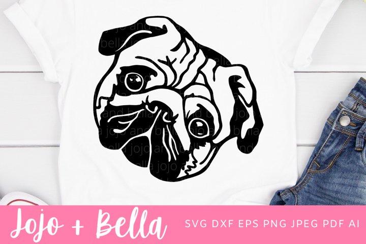 Pug | Dog Svg| An Animal Svg File