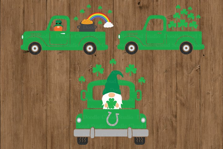 St Patricks Truck SVG, Truck SVG CutFiles, St Patrick Day.