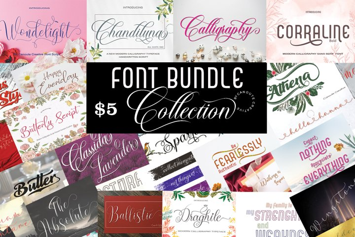 Font Bundle Collection