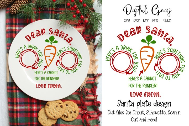 Christmas Plate SVG / PNG / EPS / DXF files