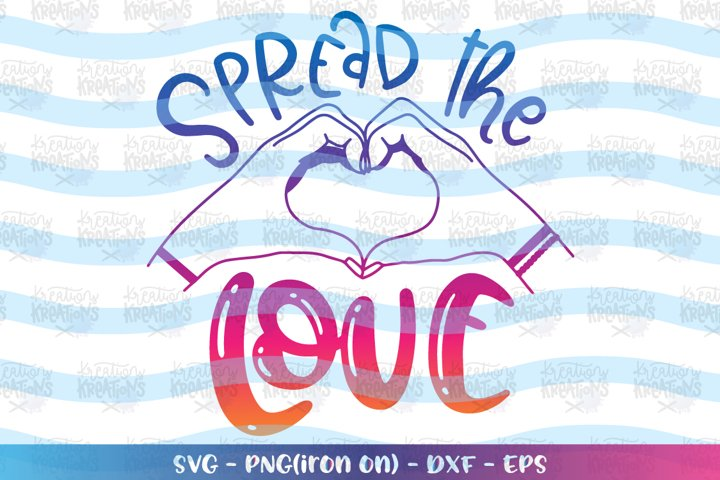 General svg Spread the LOVE hand love sign heart cute