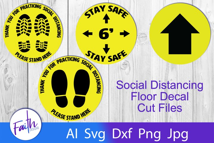 Floor Decals For Social Distancing Svg Cut Files