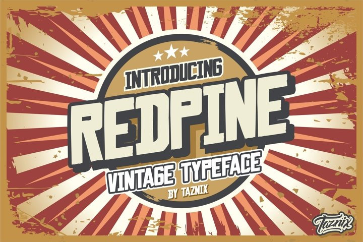 Redpine Vintage Typeface