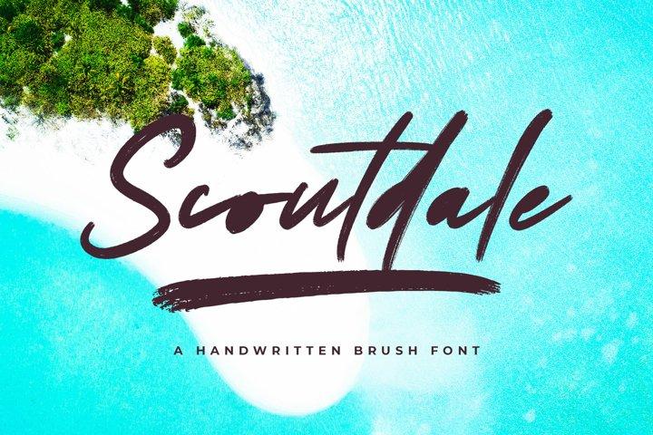 Scoutdale   Handwritten Brush Font