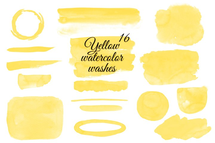 Yellow watercolor washes clipart Watercolor stains