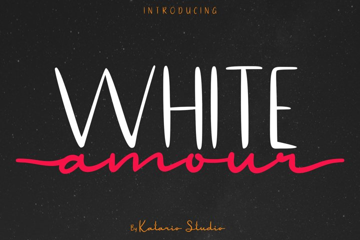 White Amour | Lovely Font Duo San Serif and Script