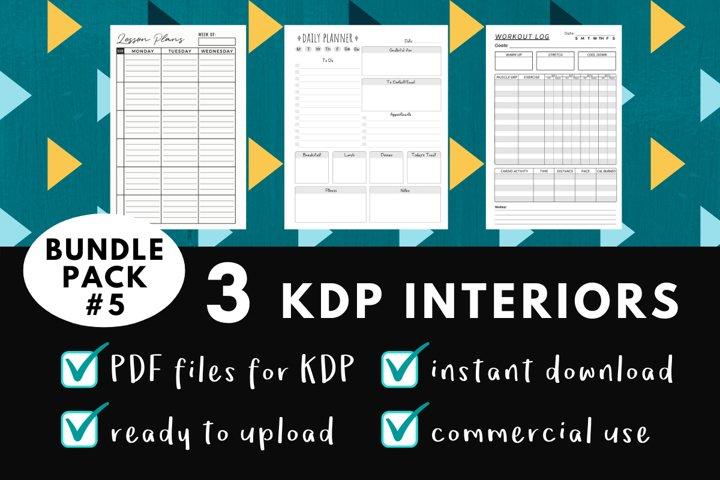 KDP Interior Pack #5 - 3 Templates!