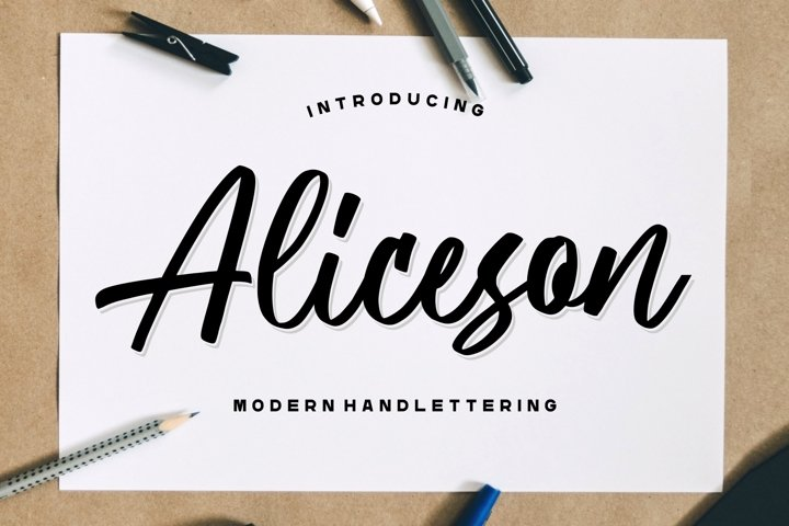 Aliceson - Modern Handlettering