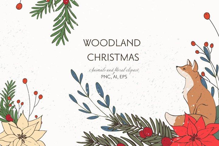 Christmas Woodland Animals Clipart