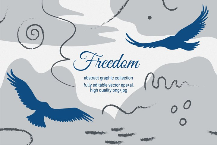 Freedom. Abstract graphic collection