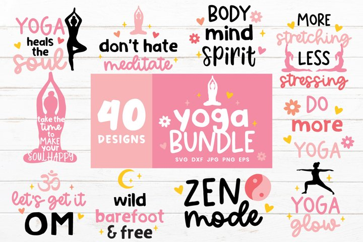 Yoga Svg Bundle | Meditation Svg | Mindful Svg Cut Files