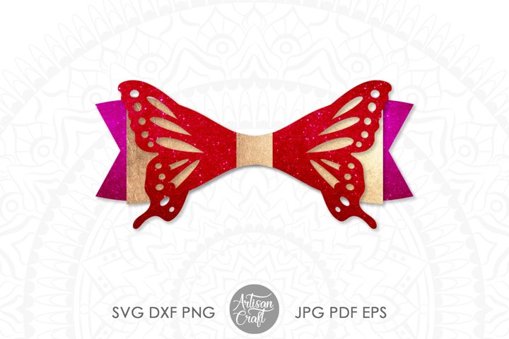 Butterfly bow template, SVG cut files example