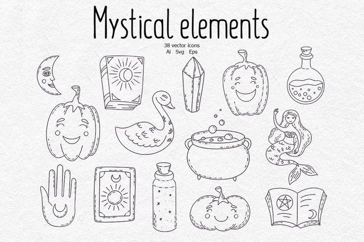 Mystical elements, vector files