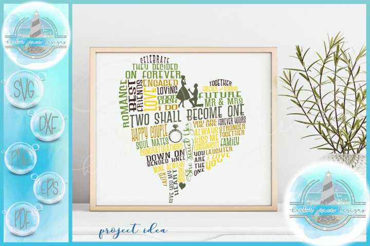 Engagement Fiance Subway Art Heart SVG