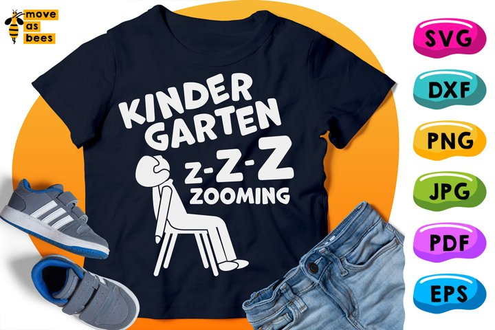 Kindergarten Z-z-zooming Svg, Sleeping Boy, Funny Shirt Svg