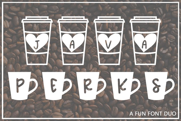 Java Perks - A Fun Font Duo