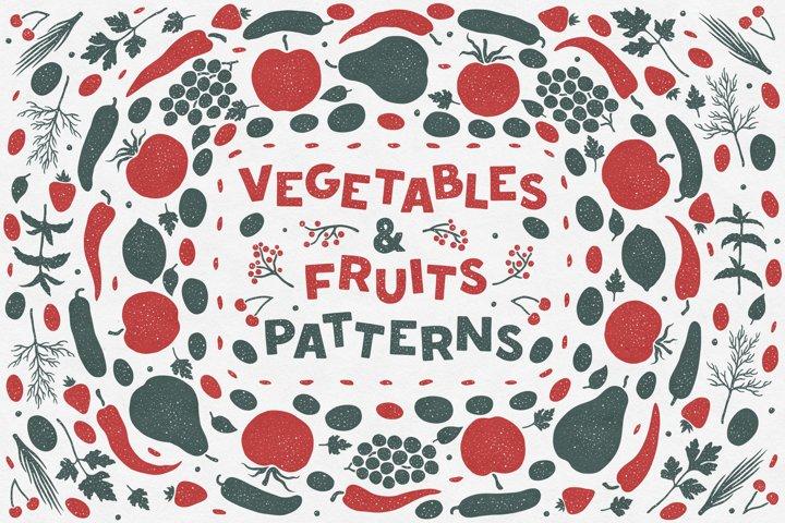 Vegetables & Fruits Patterns