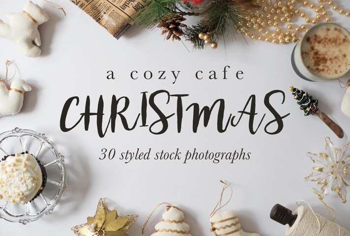 Cozy Cafe Christmas Photo Bundle